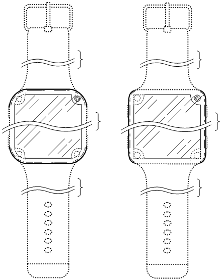 Design patent drawing: Smartwatch